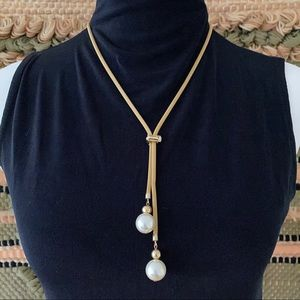 🎉5/20 SALE🎉 vintage gold bolo lariat necklace